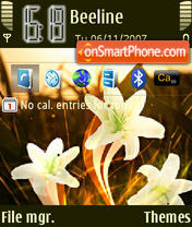 Red Flower es el tema de pantalla