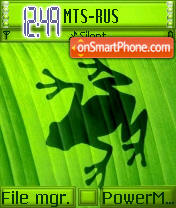 Frog Inside theme screenshot