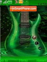 green guitar theme screenshot