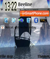Скриншот темы Black Ship