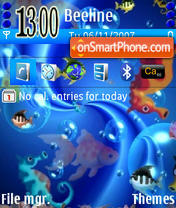 Blue Sea theme screenshot