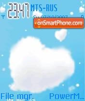 Animated Sky Heart es el tema de pantalla