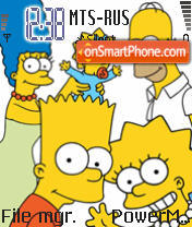 Simpsons De Luxe theme screenshot