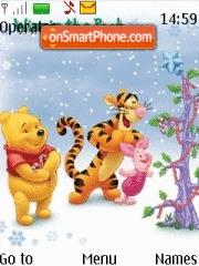 Pooh and Friends Xmas theme screenshot
