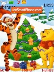 Pooh And Tigger Xmas theme screenshot