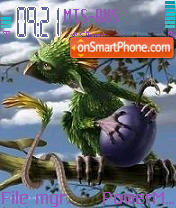 Ptica es el tema de pantalla