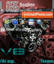 V8 Engine es el tema de pantalla