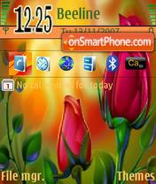 Red Tulips theme screenshot