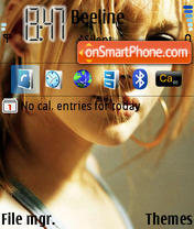 Hillary Duff 02 theme screenshot