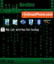 The Matrix Default theme screenshot