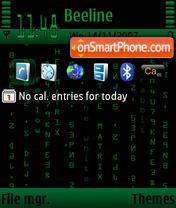 The Matrix Default es el tema de pantalla
