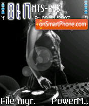 Glamour DJ theme screenshot