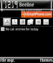 Скриншот темы More Black Giambi