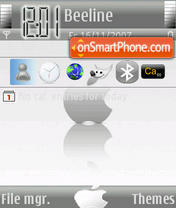 White Apple theme screenshot