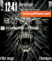 Skull 07 theme screenshot