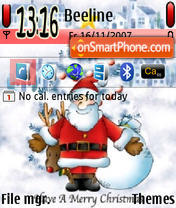 Merry Christmas 01 theme screenshot