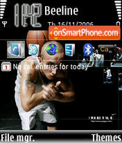 Nike Basketball E61 theme screenshot