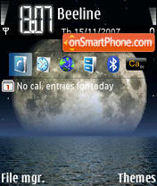 Moon 01 theme screenshot