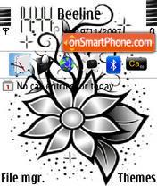 Black Flower es el tema de pantalla