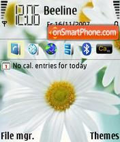 White Yellow Flower es el tema de pantalla