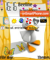 Cute Duck theme screenshot