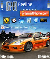 Sport Car Orange theme screenshot