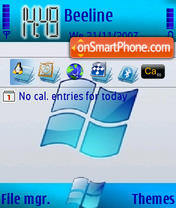 Blue XP theme screenshot