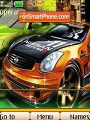 Orange Nissan Sparco theme screenshot