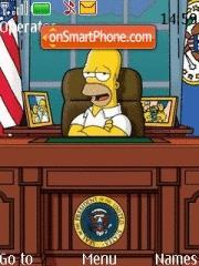 Скриншот темы Homer Simpson 02