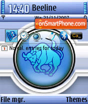 Taurus QVGA theme screenshot