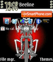 Santaclause On Bike tema screenshot