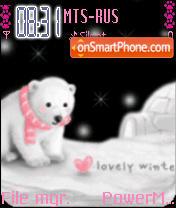 Animated Winter Bear es el tema de pantalla