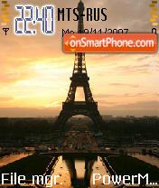 Eiffel At Sunrise es el tema de pantalla