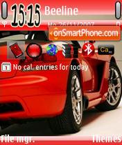 Red Car theme screenshot