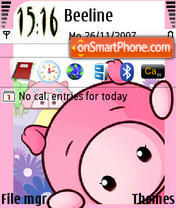 Pinky Pig theme screenshot