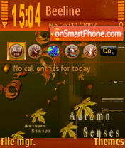 Atumn Senses tema screenshot
