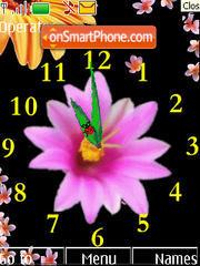 Clock Flowers theme screenshot