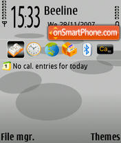 NokiaGrey v1.0 theme screenshot