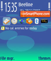 NokiaBlue v1.0 theme screenshot