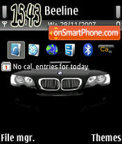 Black Bmw Exclusive theme screenshot
