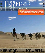 Capture d'écran Desert thème