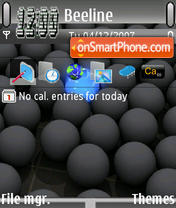 Скриншот темы Black Ball Update