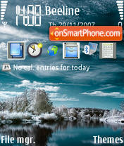 Winter Reflection tema screenshot