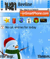 Snow Man theme screenshot