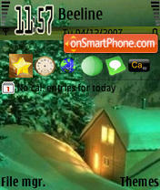 Green Night tema screenshot