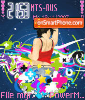 Disco Babe theme screenshot