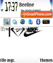 I Love Nike theme screenshot