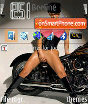 Playboy's Girls Moto theme screenshot