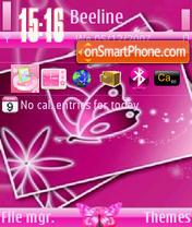 Скриншот темы Pink Butterfly