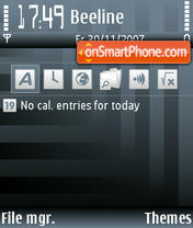 Скриншот темы Borderline Bars
